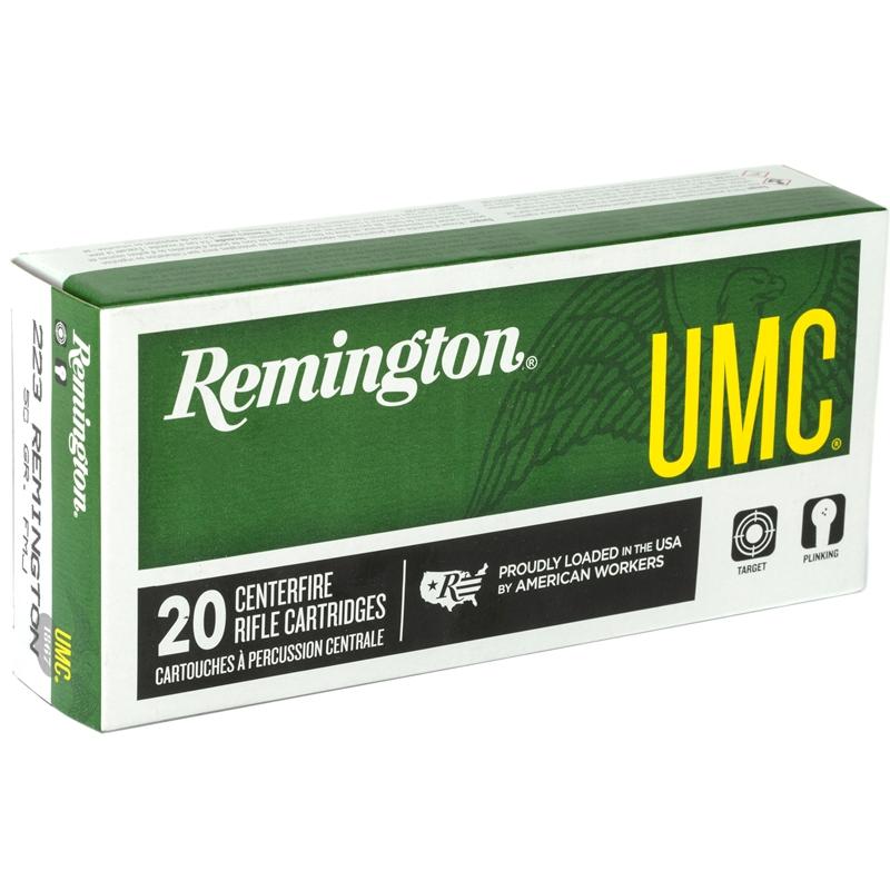 Remington UMC 223 Remington Ammo 50 Grain Jacketed Hollow Point