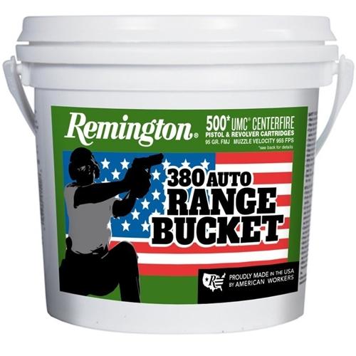 Remington UMC 380 ACP AUTO Ammo 95 Gr FMJ Bucket 500 Rds