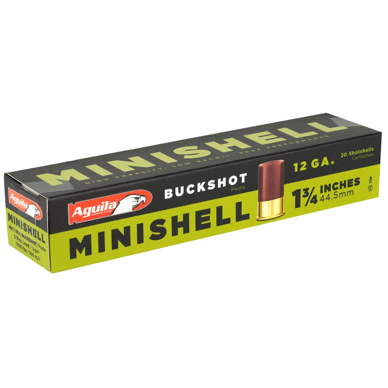 """Aguila Minishell 12 Gauge Ammo 1-3/4"""" 5/8oz. #7 1/2 Shot"""