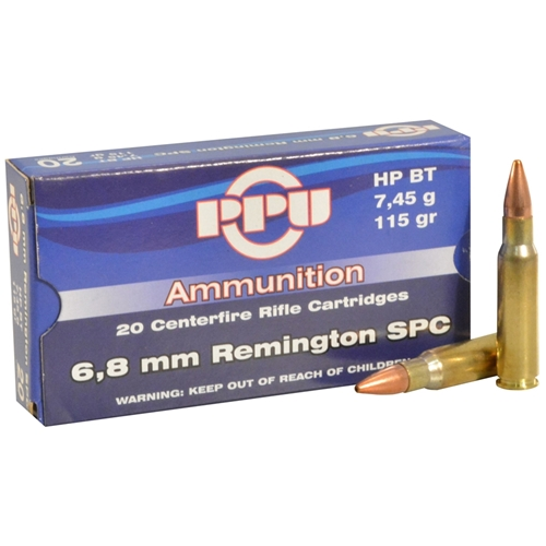 Prvi Partizan 6.8mm Remington SPC Ammo 115 Grain HPBT