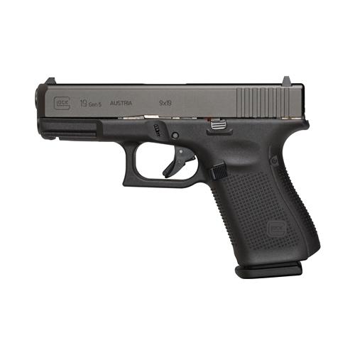 "Glock G19 Gen5 9mm Luger Semi-Auto 10 Rds 4"" Marksman Brl No Safety nDLC"