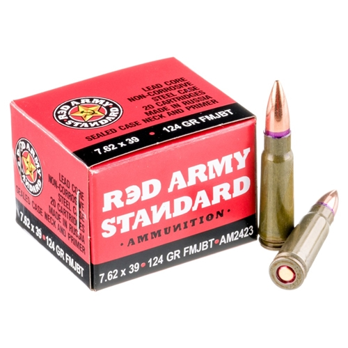 Red Army Standard 7.62x39mm Ammo 124 Grain FMJ BT