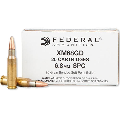 Federal 6.8mm Remington Special Ammo 90 Grain Bonded SP