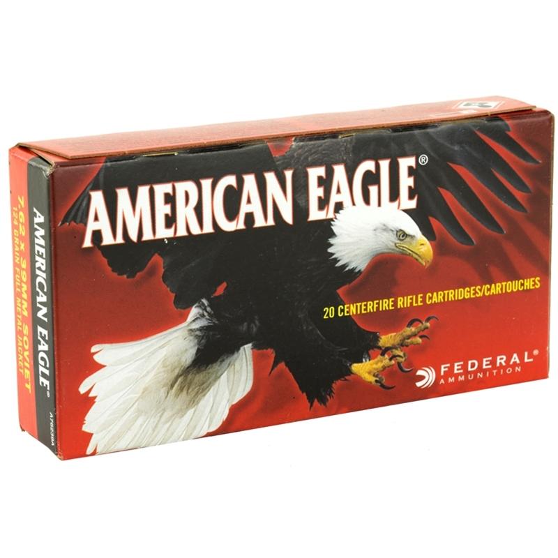 Federal American Eagle 7.62x39mm Ammo 124 Grain FMJ