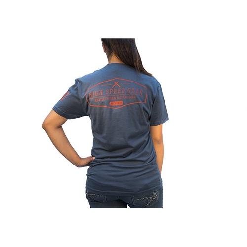 High Speed Gear Short Sleeve T-Shirt in Faded Blue