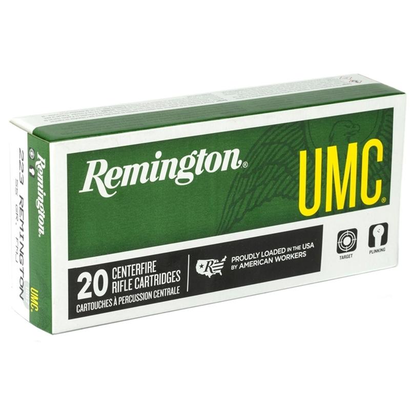 Remington UMC 223 Remington Ammo 62 Grain Closed Tip Flat Base