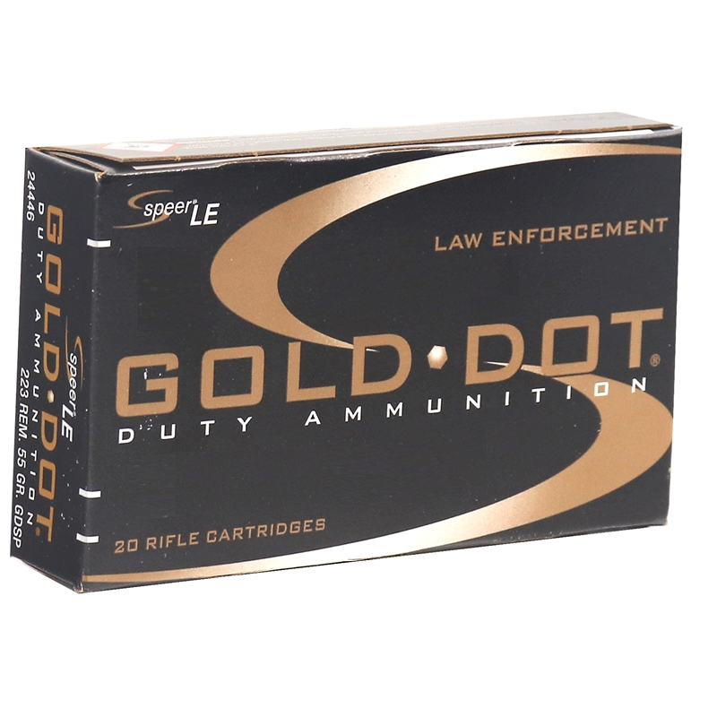 Speer Gold Dot LE Duty 223 Remington 75 Grain SP