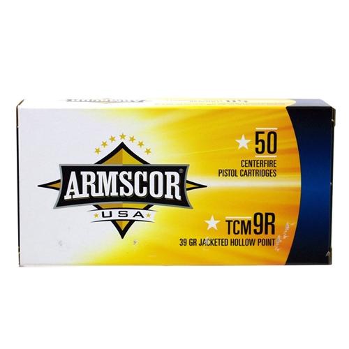 Armscor USA 22 TCM R9 Ammo 39 Grain JHP