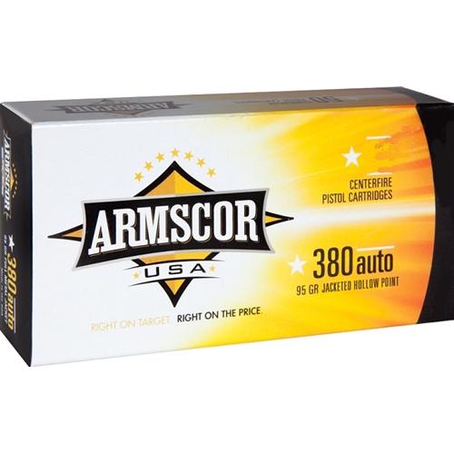Armscor USA 380 ACP AUTO Ammo 95 Grain JHP