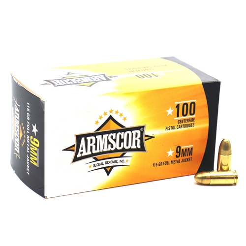 Armscor Precision 9mm Luger Ammo 115 Grain FMJ VP