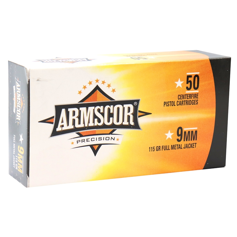 Armscor Precision 9mm Luger Ammo 115 Grain FMJ