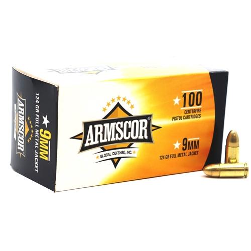 Armscor Precision 9mm Luger Ammo 124 Grain FMJ VP
