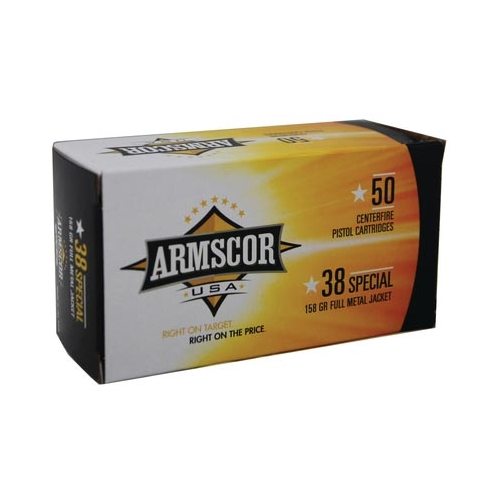 Armscor USA 38 Special Ammo 158 Grain Full Metal Jacket