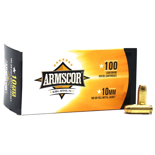 Armscor Precision 10mm AUTO Ammo 180 Grain FMJ VP