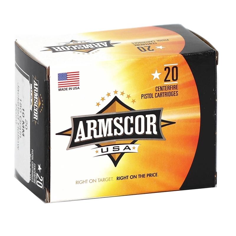 Armscor USA 10mm AUTO Ammo 180 Grain JHP