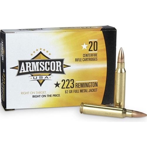 Armscor USA 223 Remington Ammo 62 Grain FMJ