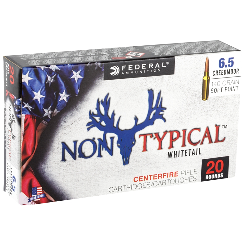 Federal Non-Typical 6.5 Creedmoor Ammo 140 Grain SP