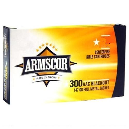 Armscor Precision 300 AAC Blackout Ammo 147 Grain FMJ