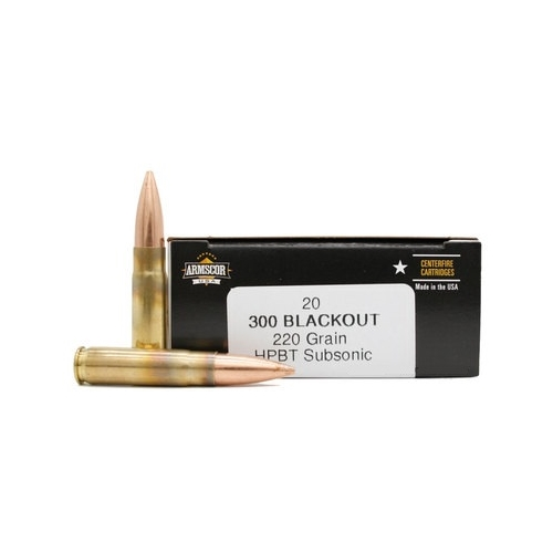 Armscor USA 300 AAC Blackout Ammo 220 Grain Hollow Point Boat Tail Subsonic