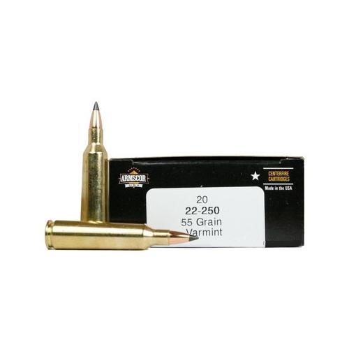 Armscor USA 22-250 Remington Ammo 55 Grain VG