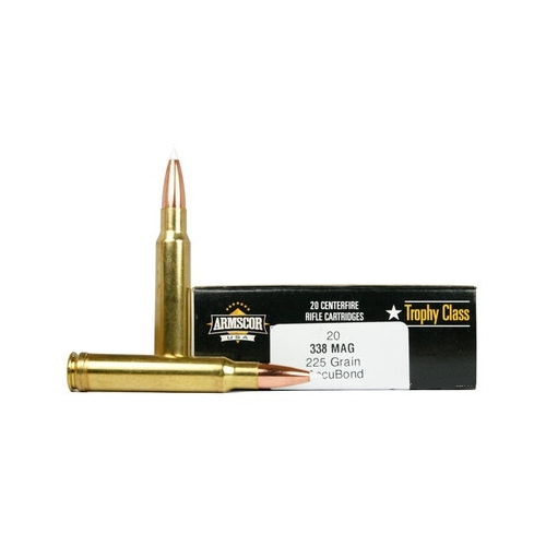 Armscor USA 338 Winchester Magnum Ammo 225 Grain Accubond