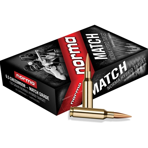 Norma USA Match 6.5 Creedmoor 130 Gr Golden Target Hybrid HPBT