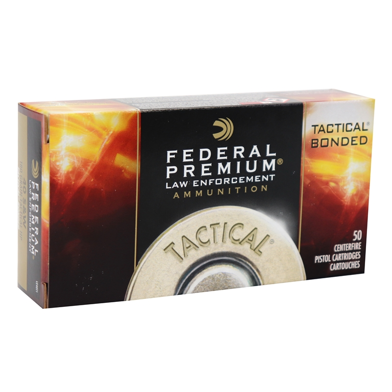 Federal Law Enforcement 40 S&W Ammo 180 Gr Tactical Bonded HP