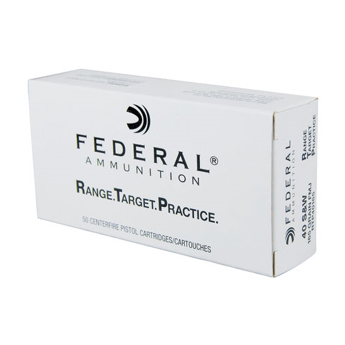 Federal Range Target Practice 40 S&W Ammo 165 Gr FMJ
