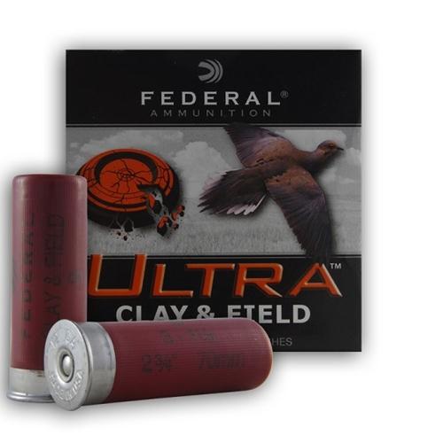 """Federal Ultra Clay & Field 12 Ga 2-3/4"""" Ammo 1-1/8 oz #8 LS"""