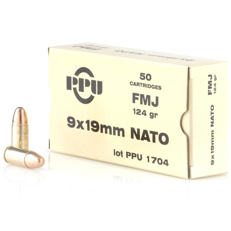 Prvi Partizan 9x19mm NATO 124 Grain Full Metal Jacket