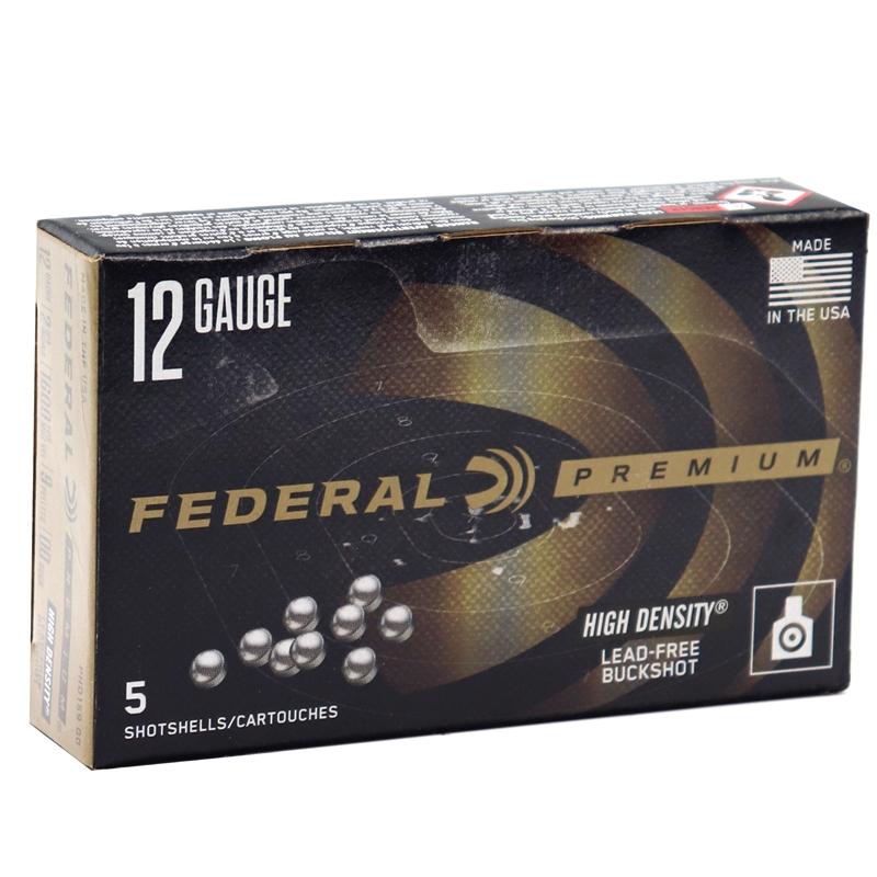 "Federal Vital-Shok 12 Gauge Ammo 2 3/4"" 00 Buck High Density Lead Free"