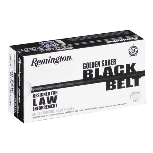 Remington Golden Saber Black Belt 40 S&W Ammo 180 Grain JHP