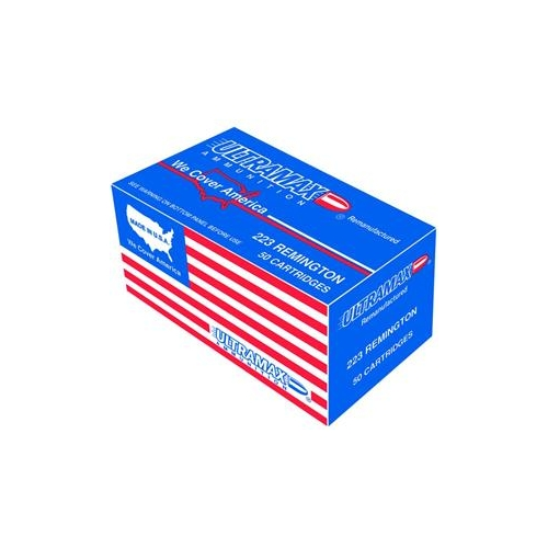 Ultramax Remanufactured 380 ACP AUTO Ammo 115 Grain Lead Round Nose