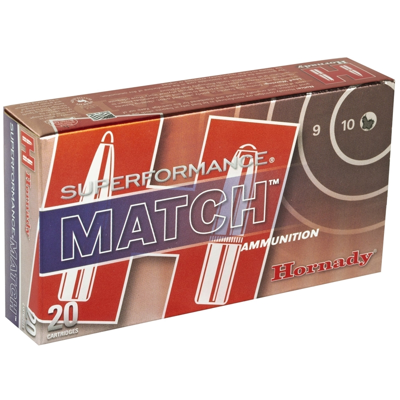 Hornady Superformance Match 5.56x45mm NATO Ammo 73 Gr ELDM