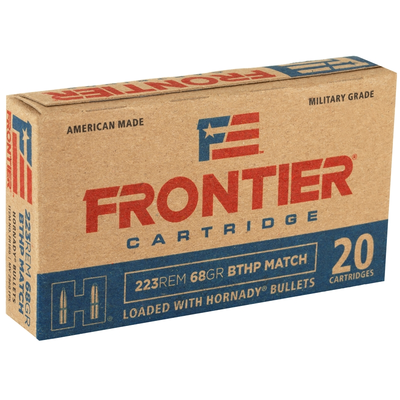 Frontier Cartridge Military Grade 223 Remington Ammo 68 Gr HBTHP