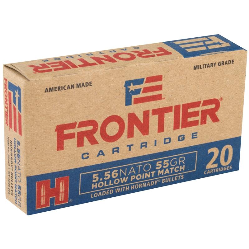 Frontier Military Grade 5.56x45mm NATO Ammo 55 Grain HHPM