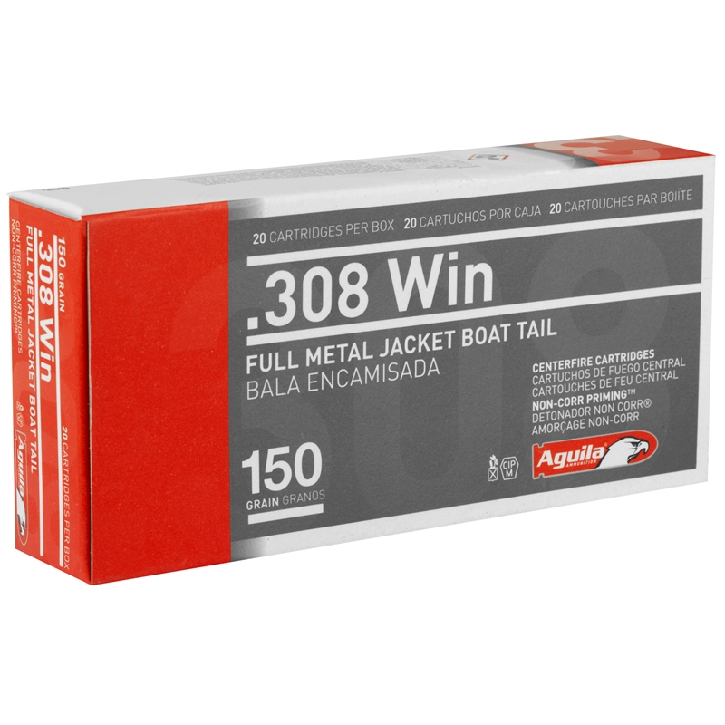 Aguila 308 Winchester Ammo 150 Grain Full Metal Jacket