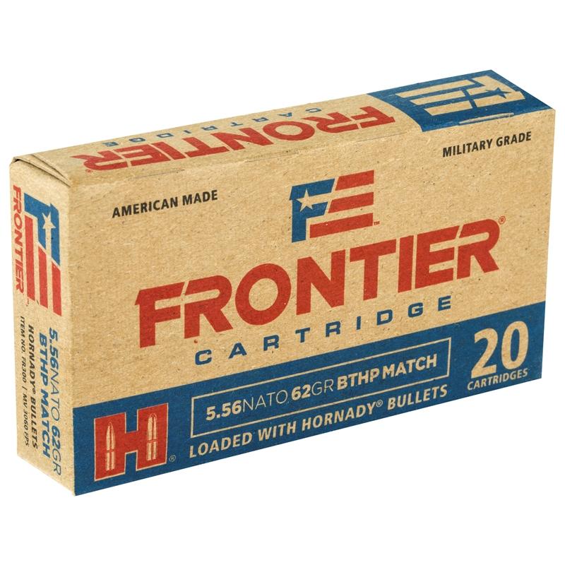 Frontier Military Grade 5.56x45mm NATO Ammo 62 Grain HBTHPM