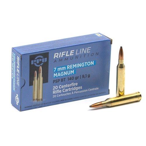 Prvi Partizan 7mm Remington Magnum Ammo 140 Grain PSP