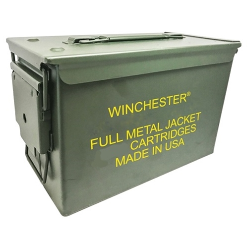 winchester 40 s w ammo 165 grain fmj 500 rounds in ammo can