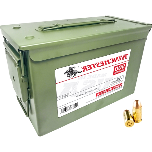 Winchester 45 ACP Auto Ammo 230 Gr FMJ 500 Rds in Can