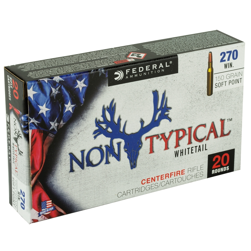 Federal Non-Typical 270 Winchester Ammo 150 Grain Soft Point