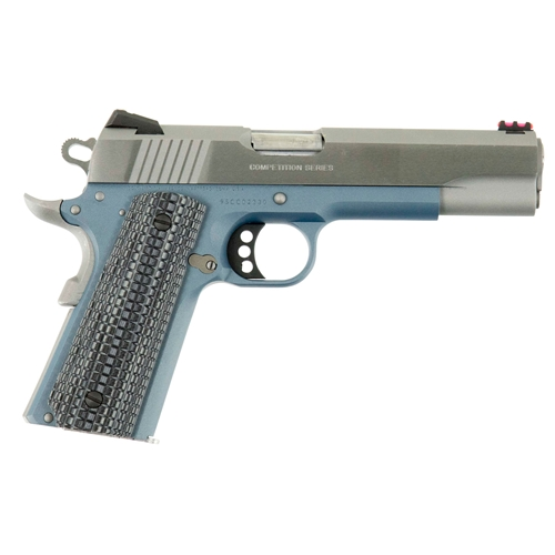 "Colt 1911 Competition 70 Series 9mm Luger Semi-Auto 5"" Barrel 9+1 Rounds Blue G10 Grip Stainless Steel"