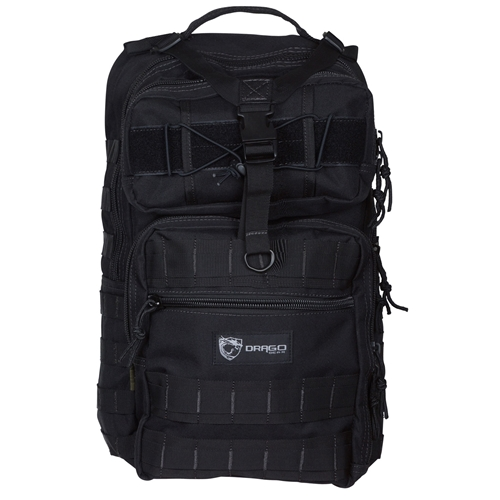 b6dd234aadc3 Drago Atlus Sling Pack Backpack Tactical 600D Polyester Blk