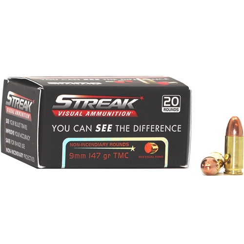 Ammo Inc Steak 9mm Luger Ammo 147 Grain Red Tracer