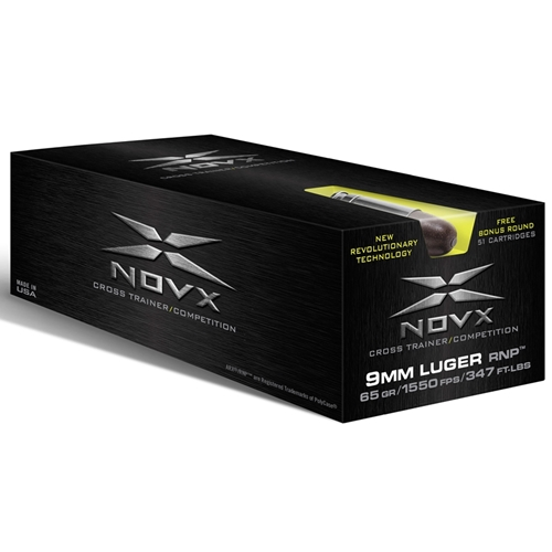NovX Cross Trainer/Competition 9mm Luger Ammo 65 Grain RNP LF