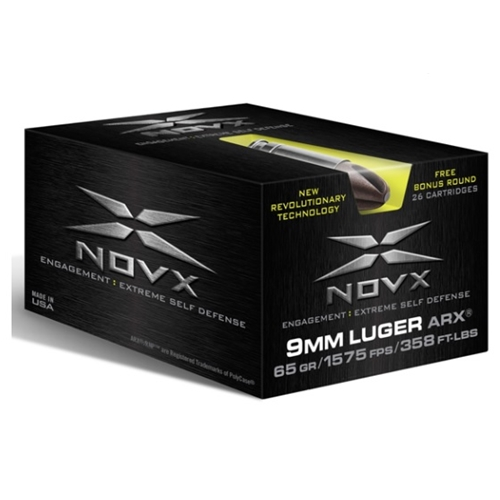 NovX Engagement Extreme SD 9mm Luger Ammo 65 Grain ARX LF