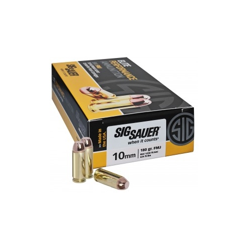 Sig Sauer Elite Performance 10mm Auto Ammo 180 Gr FMJ 200 Rds