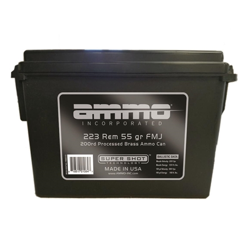 Ammo Inc 223 Remington Ammo 55 Gr FMJ 200 Rds in Ammo Can