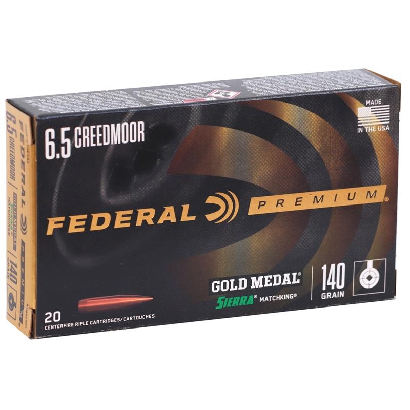 Federal Gold Medal 6.5 Creedmoor Ammo 140 Grain Sierra MatchKing Hollow Point